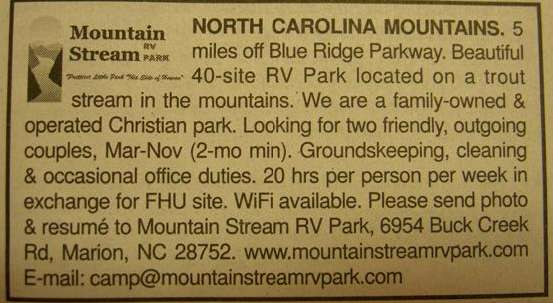 Mountain Stream ad that caught our eye