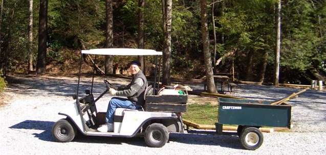 Bob on the golf cart