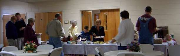 Baptists in the chow line